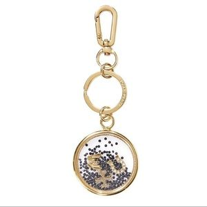 {Tory Burch} Sylbie Glitter Key Fob